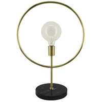 Renwil LPT779 Lincoln 24 inch 40 watt Matte Brass and Black Marble Table Lamp Portable Light