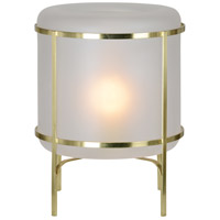 Renwil LPT787 Downey 15 inch 60 watt Satin Gold Table Lamp Portable Light, Small