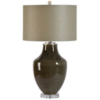 Renwil LPT822 Camelot 29 inch 100 watt Grey Glossy and Clear Table Lamp Portable Light