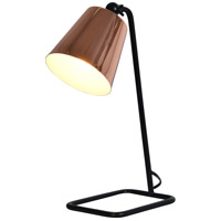 Petunia 6 inch 25 watt Black Table Lamp Portable Light, Small
