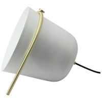 Lorain 11 inch 25 watt White and Matte Brass Floor Lamp Portable Light, Small