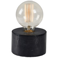 Sefton 7 inch 40 watt Black Marble Table Lamp Portable Light, Small