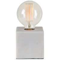 Renwil LPT883 Willoughby 8 inch 40 watt White Marble Table Lamp Portable Light Small