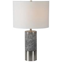 Renwil LPT887 Armley 23 inch 100 watt Satin Nickel Table Lamp Portable Light Small