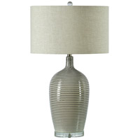 Renwil LPT992 Violeta 30 inch 100 watt Grey and White and Clear Table Lamp Portable Light Medium