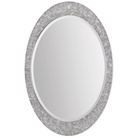 Sirens 34 X 24 inch Brushed Nickel Mirror Home Decor