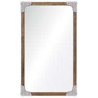 Advocate 40 X 24 inch Antique Nickel Wall Mirror