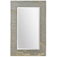Foxtrot 36 X 24 inch Shiny and Matte Silver Mirror Home Decor