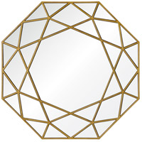 Renwil MT1649 Deloro 40 X 40 inch Brushed Gold Veneer Wall Mirror