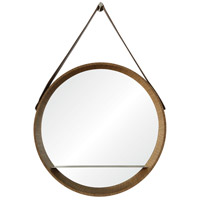 Lenola 38 X 26 inch Walnut Veneer and Nickel Mirror Home Decor