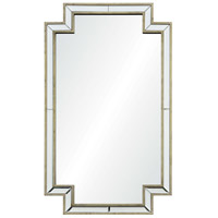 Raton 40 X 24 inch Antique Champagne Silver Wall Mirror, Medium Rectangular