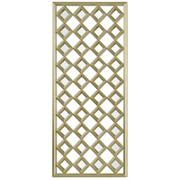Renwil MT2122 Cythera 48 X 21 inch Champagne Painted Wall Mirror, Medium Rectangle