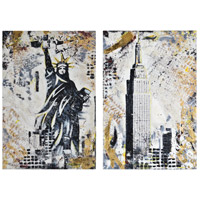 Renwil OL1760 Gotham 37 X 25 inch Painting, Medium, Set of 2