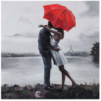 Kissing in the Rain Canvas