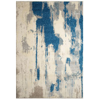 Alberto 116 X 93 inch Off White and Silver with Blue Indoor Area Rug