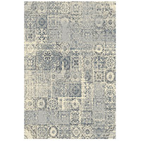 Cosmopolitain 86 X 62 inch Ivory and Grey Indoor Area Rug