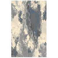 Cosmopolitain 86 X 62 inch Grey and Ivory Indoor Area Rug