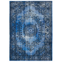 Istanbul 90 X 62 inch Dark Blue and Light Blue Indoor Area Rug