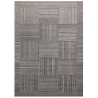 Patchwork Gray and Light Silver Rug