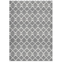 Silky Dark Gray and Light Grey Rug