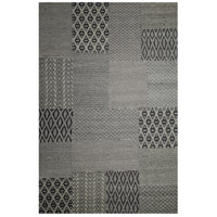 Textora 90 X 62 inch Black with Gray Indoor Area Rug
