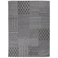 Textara 116 X 93 inch Black with Gray Indoor Area Rug