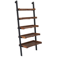 Bordo 30 inch Natural and Antique Black Shelves, Medium
