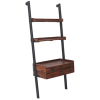 Corsica 30 inch Natural and Antique Black Shelves, Medium