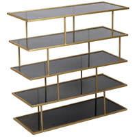 Renwil SHE010 Capucine 36 inch Amber Glass and Brass Shelves, Large