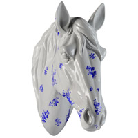 Renwil STA506 Equus White and Blue Statue