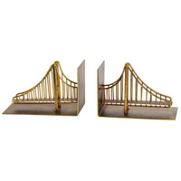 Renwil STA548 Belson 9 inch Golden Bookends, Set of 2