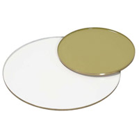 Wellington Brass and Enamel Trays, Small, Set of 2
