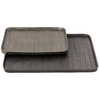 Abberford Bronze and Lead Trays, Small, Set of 2
