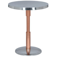 Renwil TA066 Kristof 18 inch Polished Aluminum and Copper Accent Table Home Decor