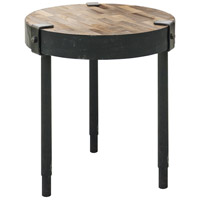 Renwil TA097 Seebach 18 inch Rusted Metal and Weathered Wood Accent Table Home Decor
