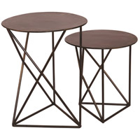 Renwil TA101 Dunbar 19 inch Black Nickel Accent Table Home Decor