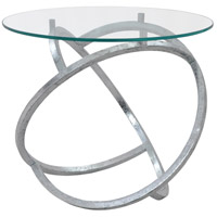 Renwil TA104 Galway 21 inch Silver Leaf Accent Table Home Decor