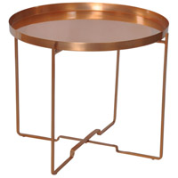 Renwil TA107 Lovestad 22 inch Rose Copper Accent Table Home Decor