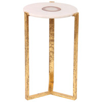 Renwil TA109 Beam 13 inch Gold Leaf Accent Table Home Decor
