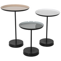 Renwil TA111 Stepping Stone 16 inch White and Beige and Grey Powder Coat with Enamel Accent Table Home Decor