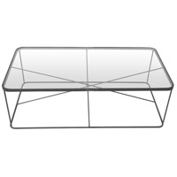Renwil TA115 Blueprint Long 24 inch Raw Iron Coffee Table Home Decor