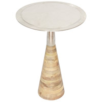 Renwil TA121 Elmshade 17 inch Raw Nickel Accent Table Home Decor