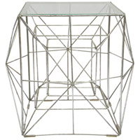 Infinity 17 inch Silver Foil Accent Table Home Decor