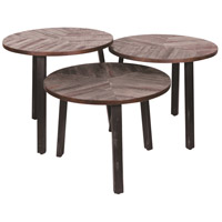 Three Leaves 21 inch Weathered and Matt Black Accent Table Home Decor