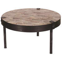 Portland 29 inch Tea Leaf and Black Coffee Table Home Decor
