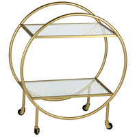 Bass 30 inch Antique Gold Coffee Table Home Decor