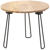Medina I 21 inch Natural with Black Powder Coated Accent Table Home Decor