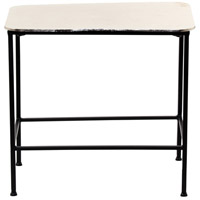 Crosby 19 inch Nickel with Black Powder Coated Side Table Home Decor