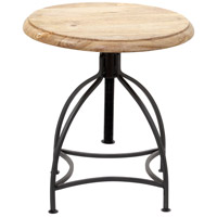 Fairmount 16 inch Natural with Black Powder Coated Accent Table Home Decor