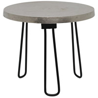 Medina II 16 inch Nickel with Black Powder Coated Side Table Home Decor